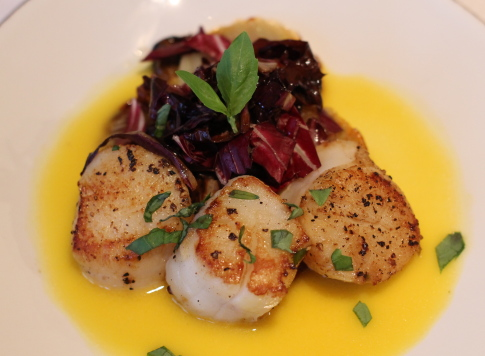 Seared Scallops with Orange-Ginger Sauce and Caramelized Fennel ...