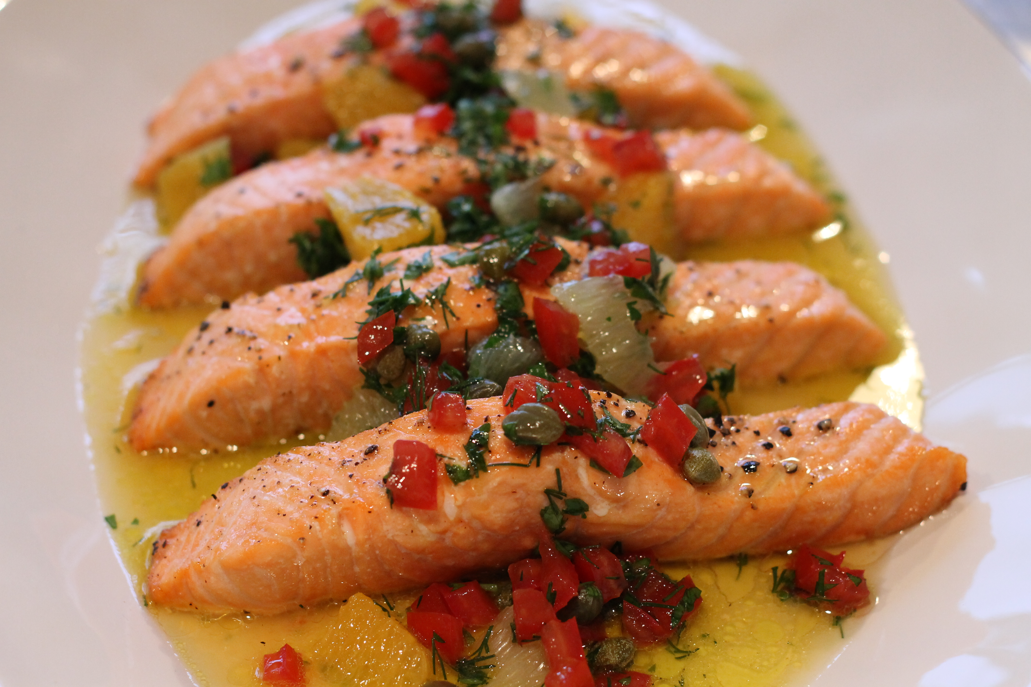 Baked Salmon with Tomatoes, Oranges and Capers - Charlotte ...