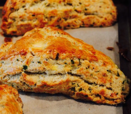 savory tarts and quick breads chive and feta scones scones