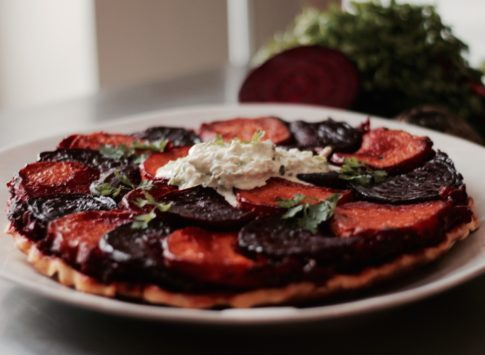 Beetroot and Sweet Potato Tart